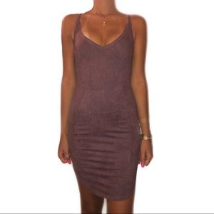 Mauve Bodycon Dress